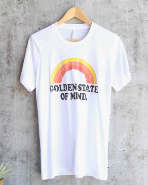 distracted - golden state of mind. - unisex graphic tee - white