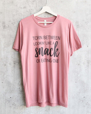 distracted - torn between looking like a snack or eating one unisex tshirt - mauve
