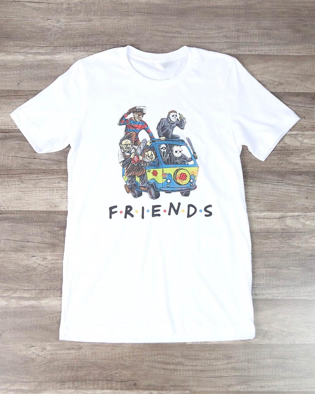 Distracted - Halloween Friends Squad Goals Graphic Tee in White