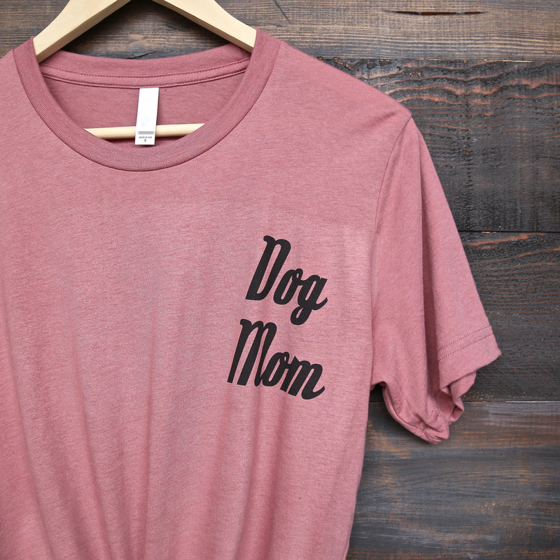 Distracted - Dog Mom Unisex Graphic Tee in Mauve