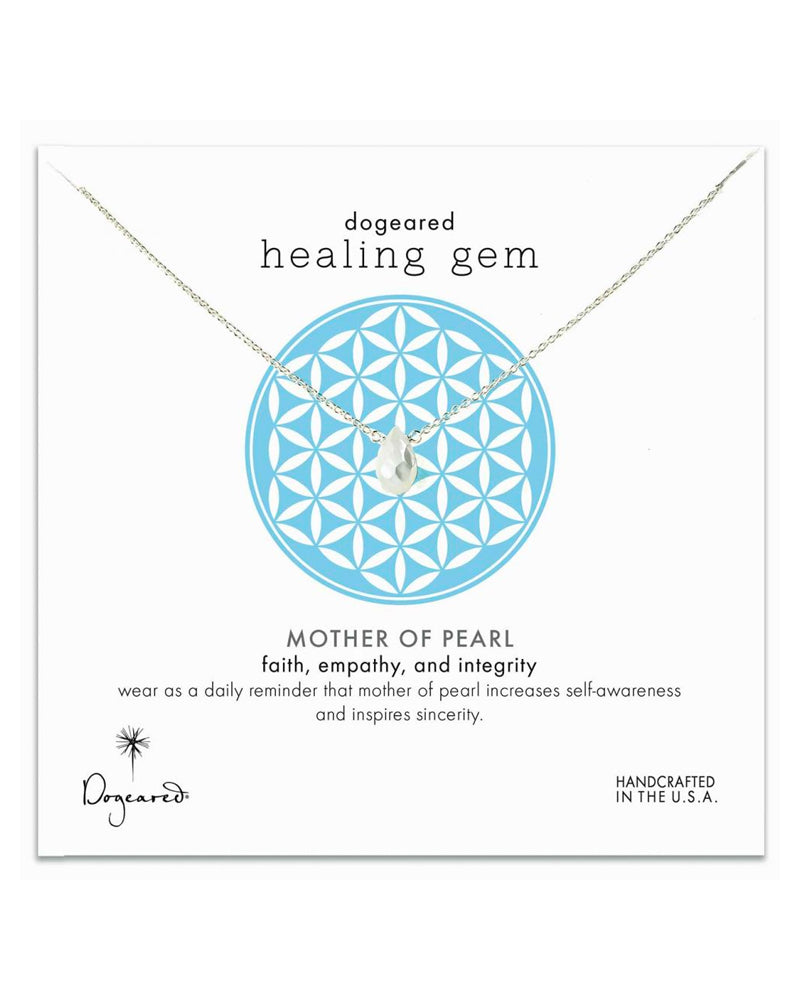 Dogeared - Healing Gem Mother of Pearl Necklace in Sterling Silver