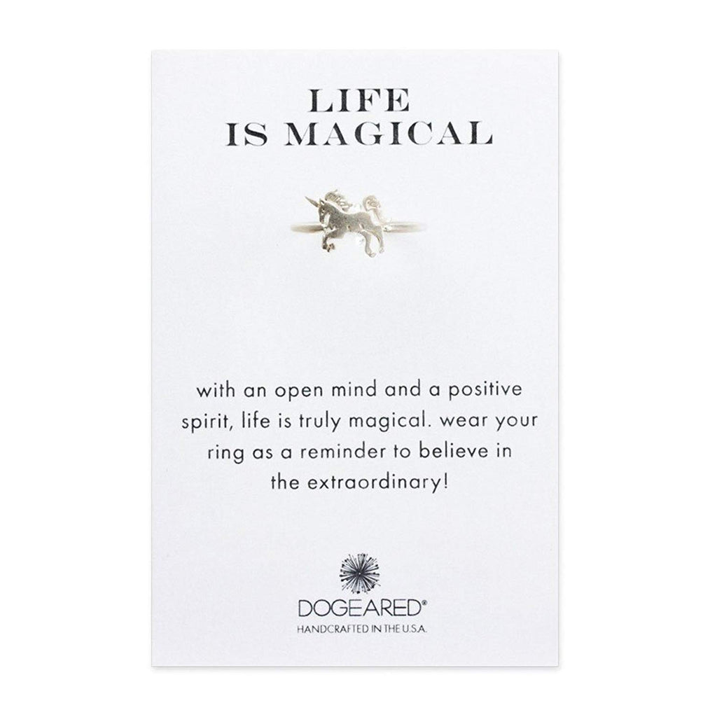 Dogeared - Life is Magical Unicorn Ring in Sterling Silver