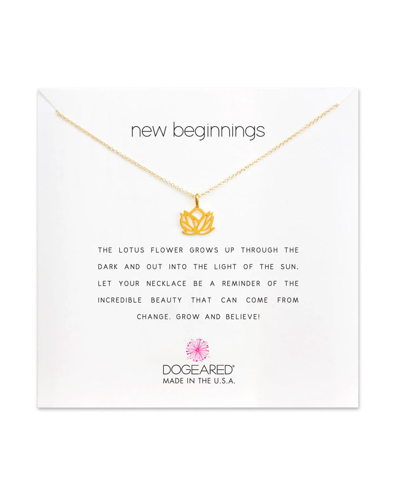Dogeared - Reminder New Beginnings Pendant Necklace in Gold Dipped