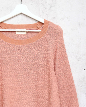 dreamers - pullover sweater with balloon sleeves - dust coral
