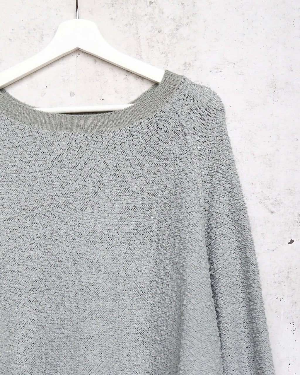 dreamers - pullover sweater with balloon sleeves - dust mint