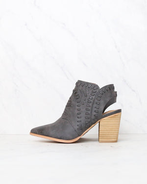 Mi iM - Emily | Patterned Pointed Cowboy Boot - Black