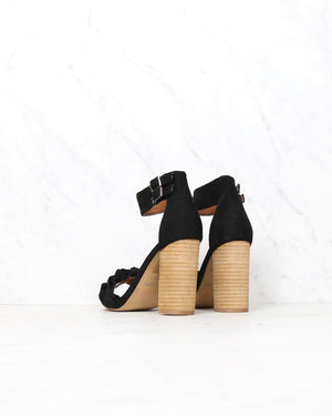 Miracle Miles - Emmeline Ruffle Trimmed Two Band Heels in More Colors
