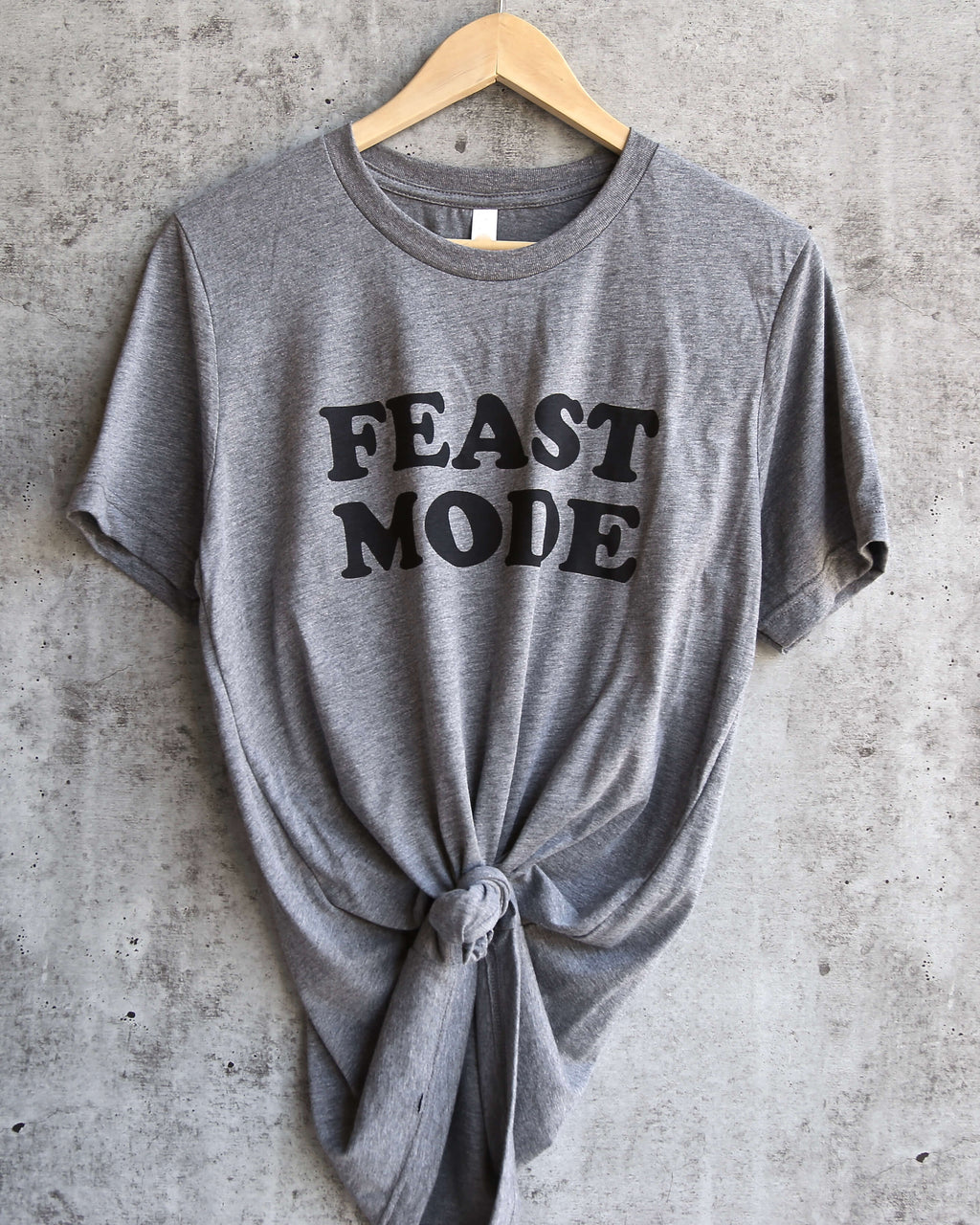 Distracted - Feast Mode Unisex Triblend in Grey/Black