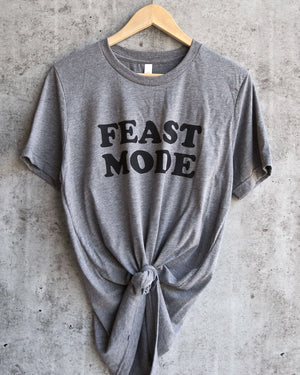 distracted - feast mode unisex triblend - grey/black