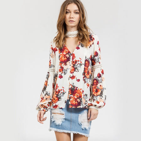 sunset in venice off the shoulder floral wrap dress