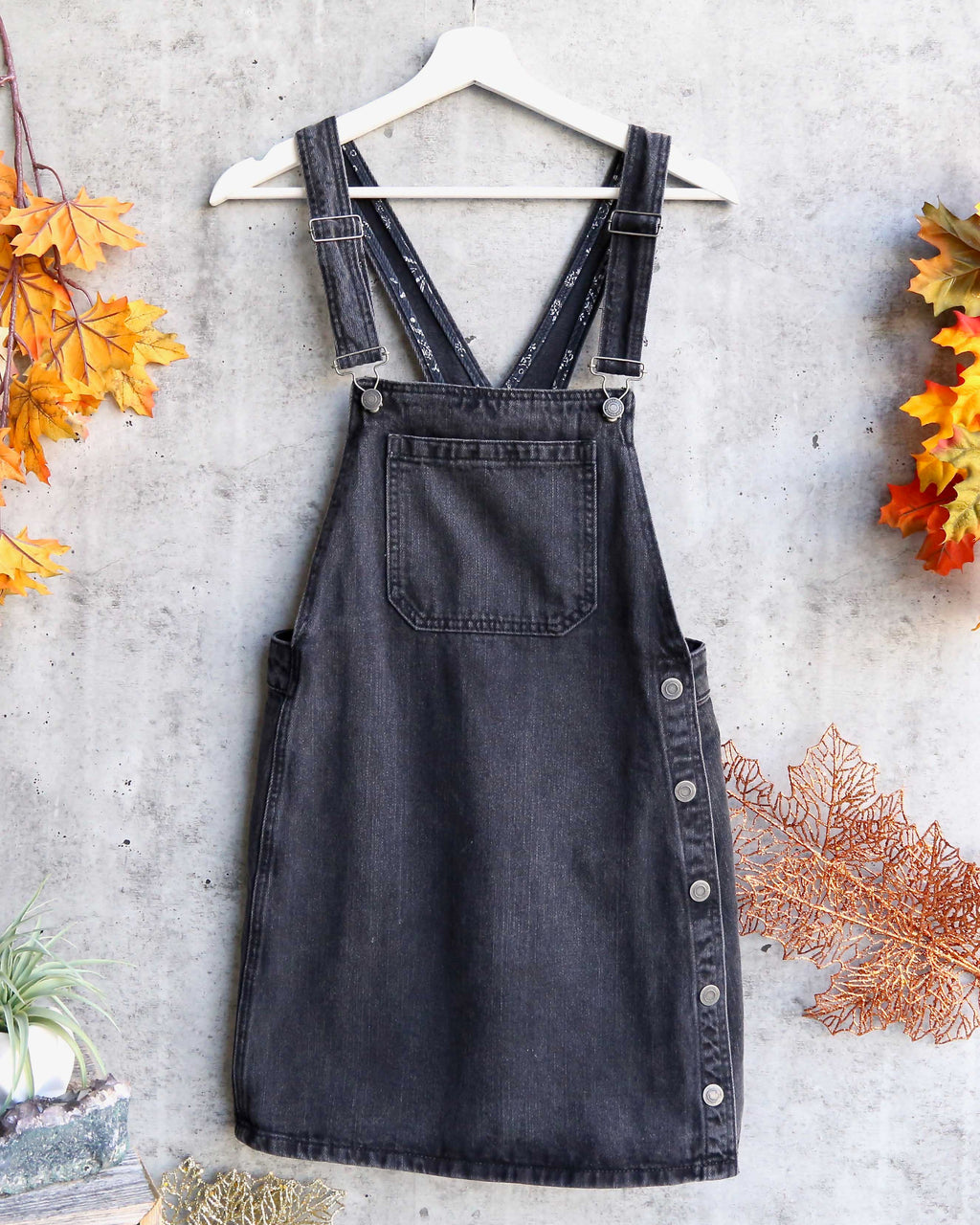 free people - louise denim skirtall - rocky mountain black