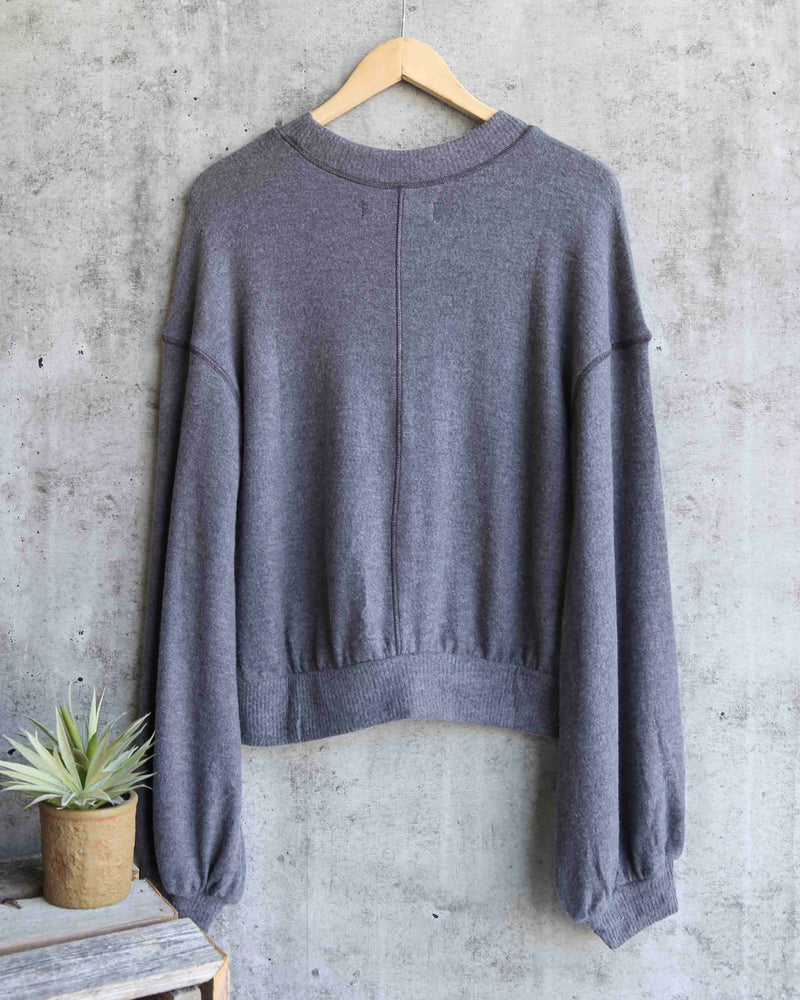 Free People - TGIF Pullover Sweater in Slate