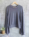 free people - TGIF pullover sweater - slate