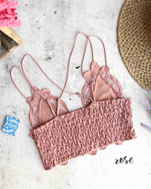 free people - FP ONE adella crochet lace bralette -  more colors