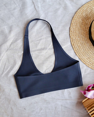 Free People - Amber Seamless Halter Bralette in Black