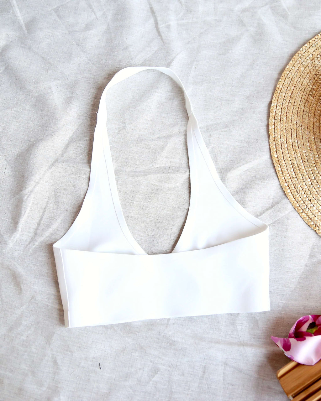 free people - amber seamless halter bralette - white