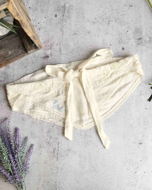 Free People - Aphrodite Embroidered Tube Top in White