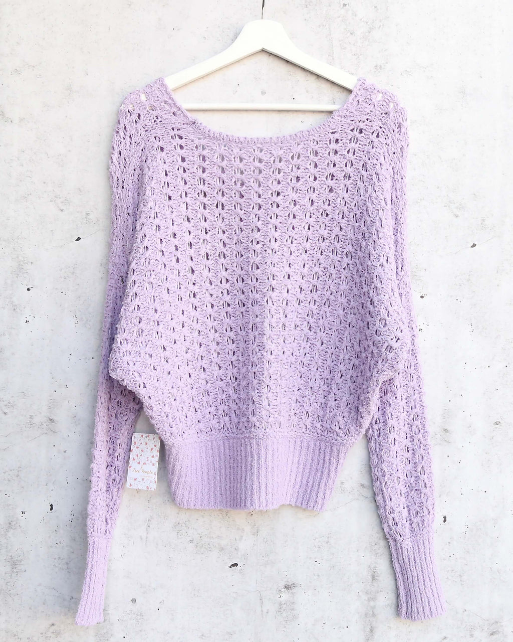 Free People Best Of You V Neck Sweater in Purple Moon