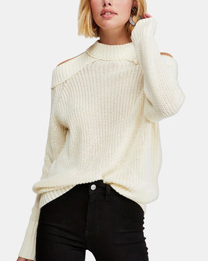 Free People - Half Moon Bay Pullover Sweater - Ivory