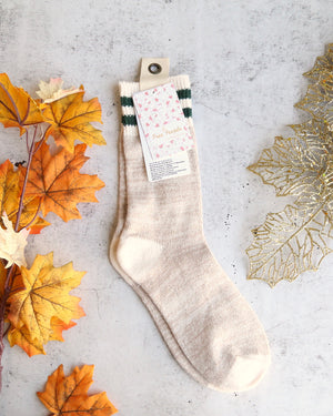 free people haven cozy crew sock in nude