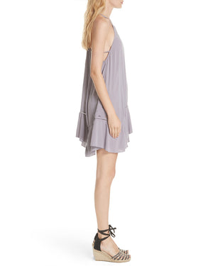 free people - heat wave embroidered tunic dress - lilac