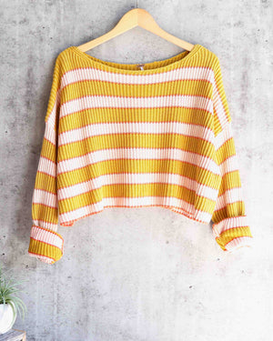 Free People - Just My Stripe Pullover in Multi