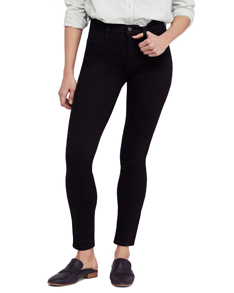 We The Free by Free People - Long and Lean High Waist Denim Leggings in Black