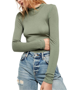 Free People - Lindsey Mock Neck Ribbed Top - More Colors