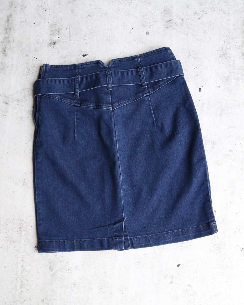 0f37ca2fe8e2 Free People - Livin It Up Denim Pencil Mini Skirt - Denim Blue
