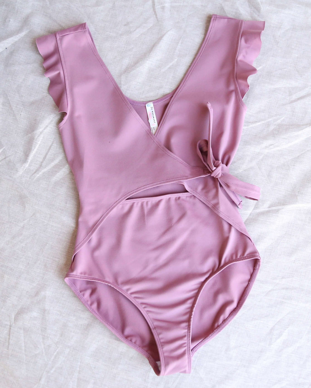 Free People - Movement Streamline Bodysuit in Frosted Berry