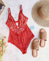 free people - no trace bodysuit - copper
