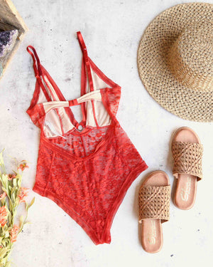 Free People - No Trace Bodysuit in Copper