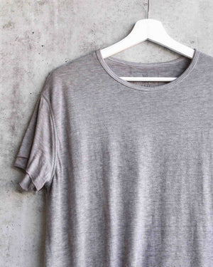 Free People - We The Free - Cloud 9 Frayed Hem Knit Tee in French Grey