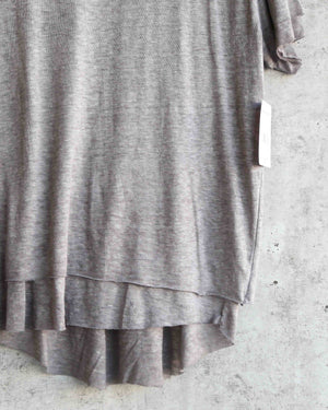 free people - we the free - cloud 9 frayed hem knit tee - french grey