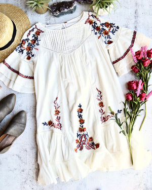 Free People - Pavlo Cotton Embroidered Mini Dress in More Colors