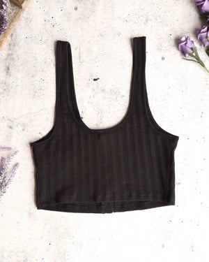 free people - atlas crop top - black