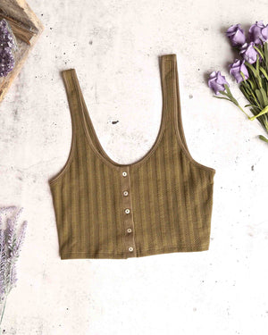 free people - atlas crop top - moss