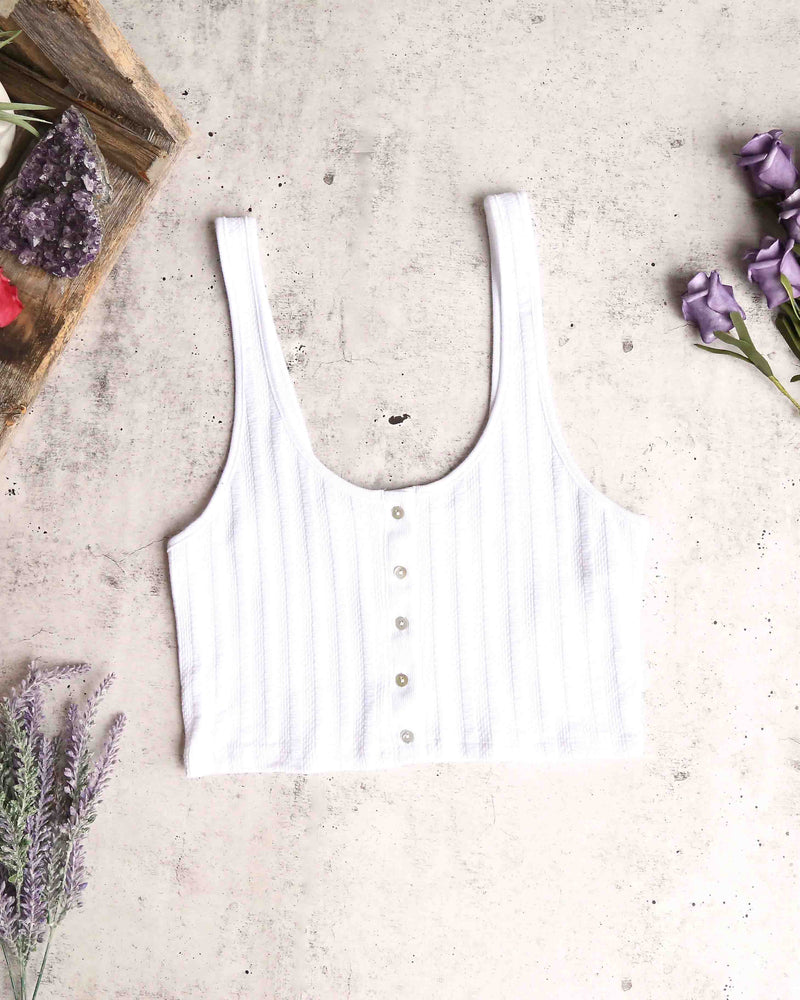 Free People - Atlas Crop Top in White
