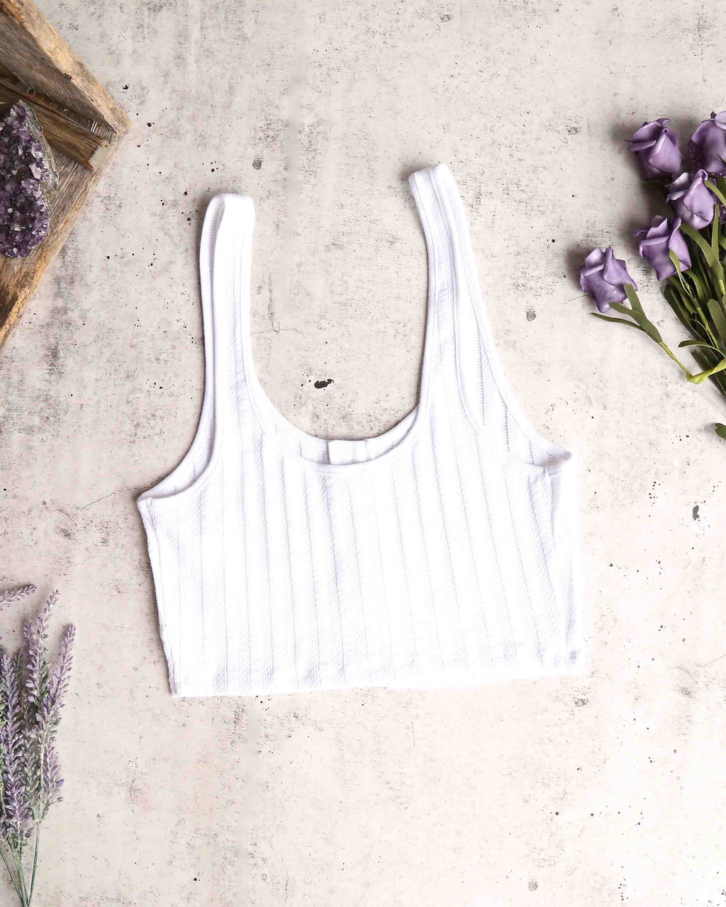 free people - atlas crop top - white