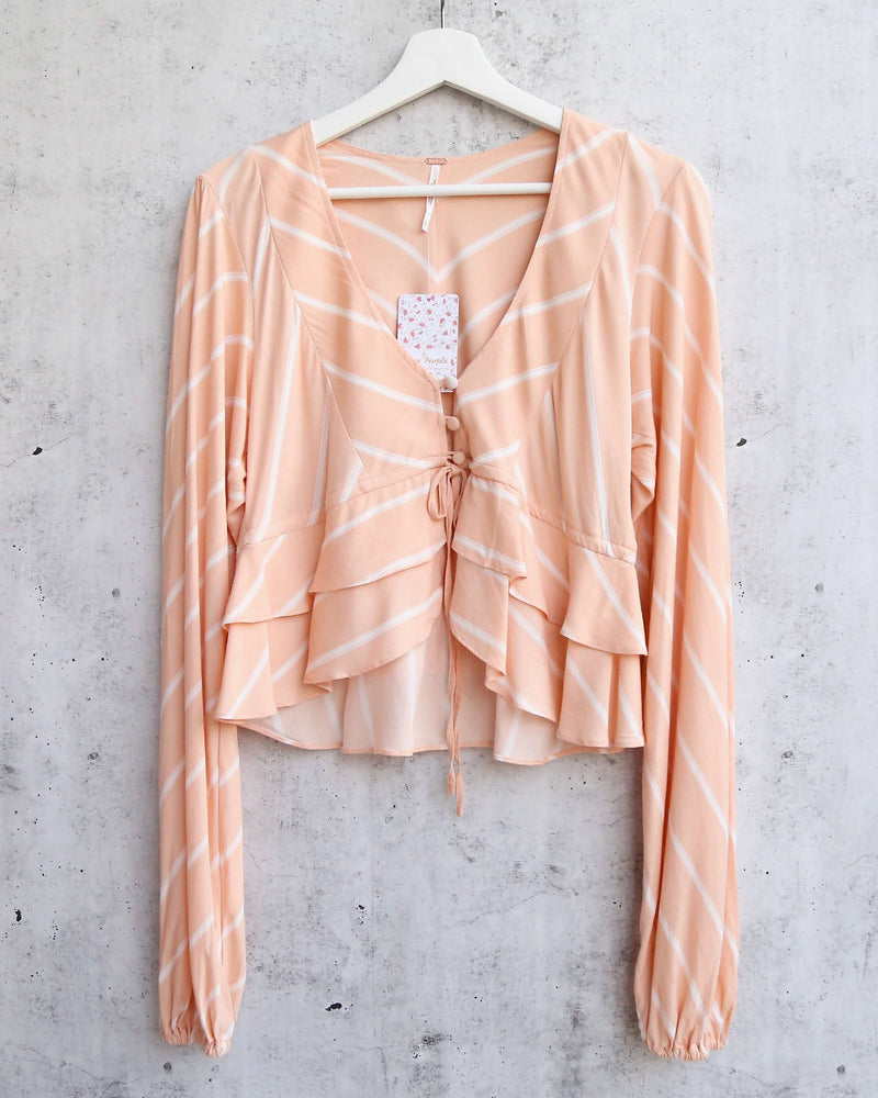 Free People - Samifran Ruffled Top - Peach