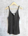 Free People - Scarlett Tank in Washed Black