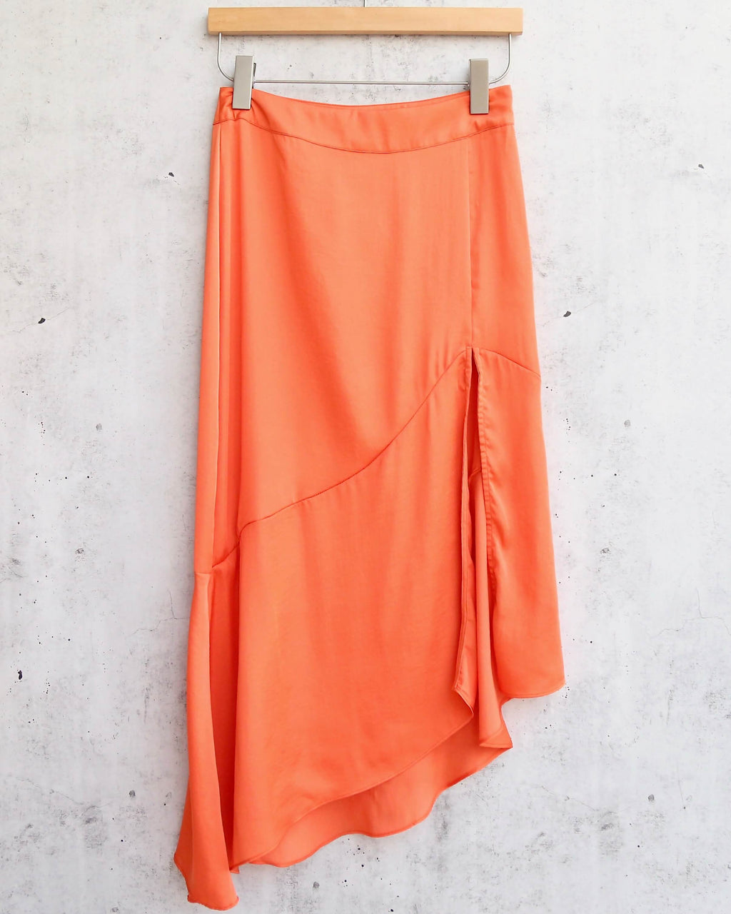 Free People - Lola Split Skirt - Bright Orange