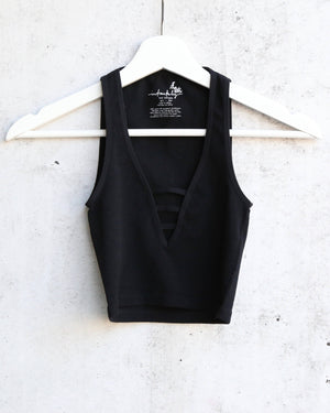 Free People Strapped In Brami Tank in Black