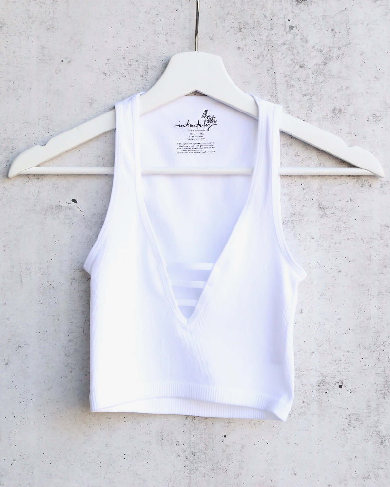 Free People Strapped In Brami Tank in Ivory