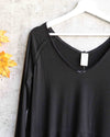 Free People - We The Free Tangerine thumbhole flared hem top - Black