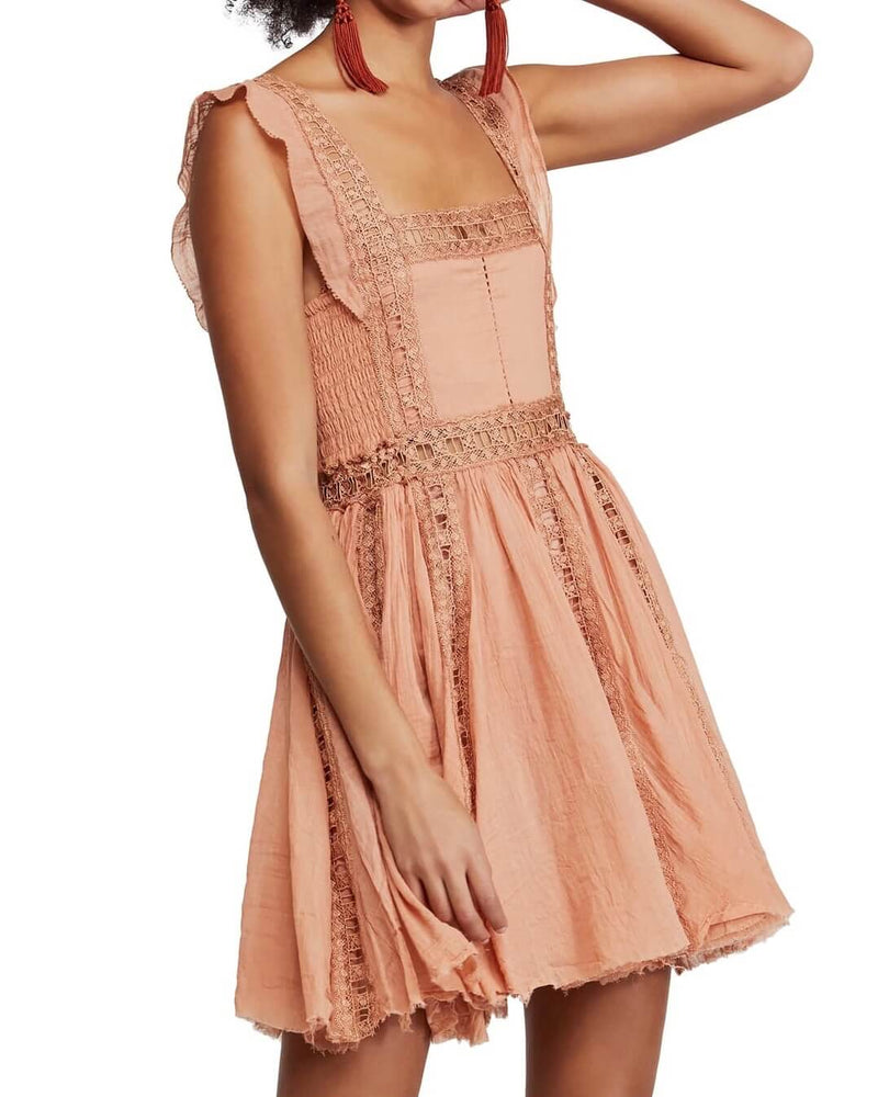Free People - Verona Mini Dress - Camel