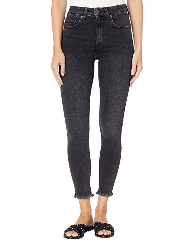 Free People - Raw High Rise Jeggings - Black