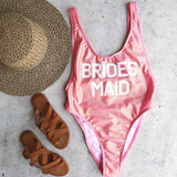grl gng collection - bride's squad high cut vintage one piece - more colors