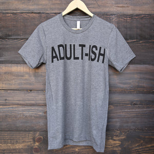 Distracted - Adult-ish Unisex Graphic Tee in Grey