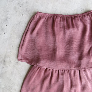Reverse - Your Type Silky Strapless Romper in Mauve